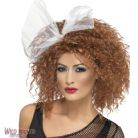 FANCY DRESS WIG # 80'S WILD CHILD WIG BROWN WITH BOW